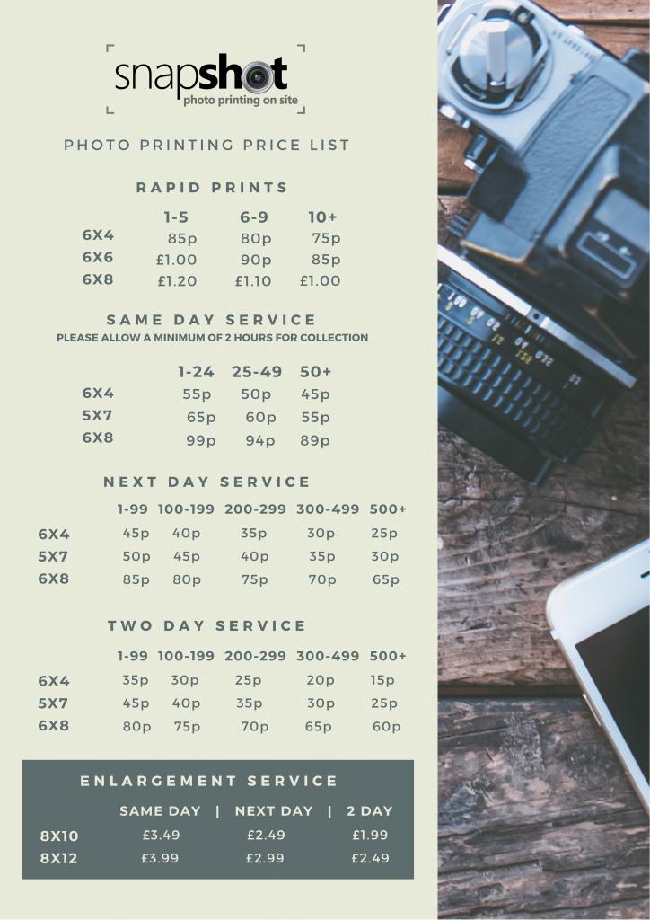 Digital Photo Print Prices