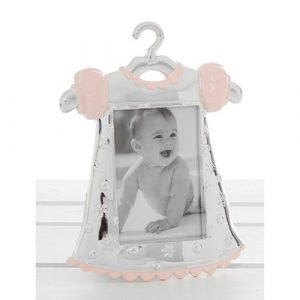 Silver Pink Baby Dress Frame