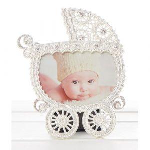 Baby Lace Pram Frame 3×4