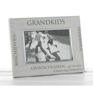 Satin Silver Sentiment Frame Grandkids