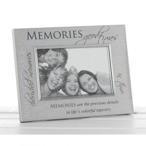 Satin Silver Sentiment Frame Memories