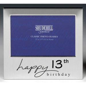Satin Silver Occasion Frame 13th Birthday 5×3