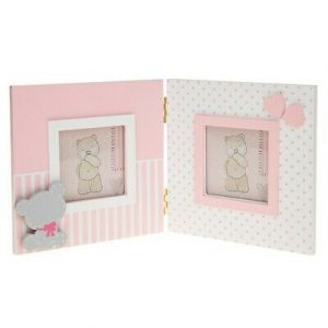 Tiny Ted Double Frame Pink