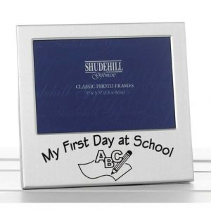 Satin Silver Occasion Frame 1st Day At School 5×3