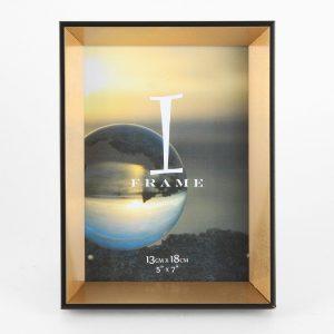 5″ X 7″ – IFRAME BLACK & GOLD PHOTO FRAME